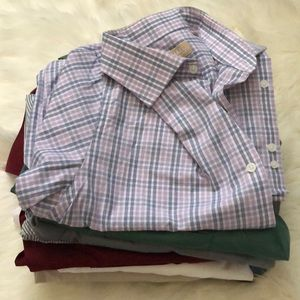 Lot of 11 Men's Button Down Dress Shirts Size Med